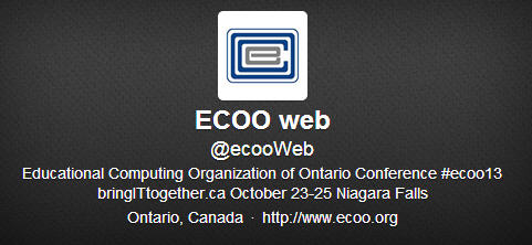 Stay on Top of #ECOO13 Updates