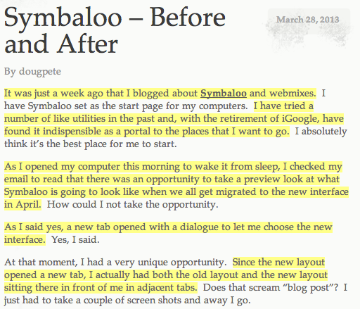 Symbalo