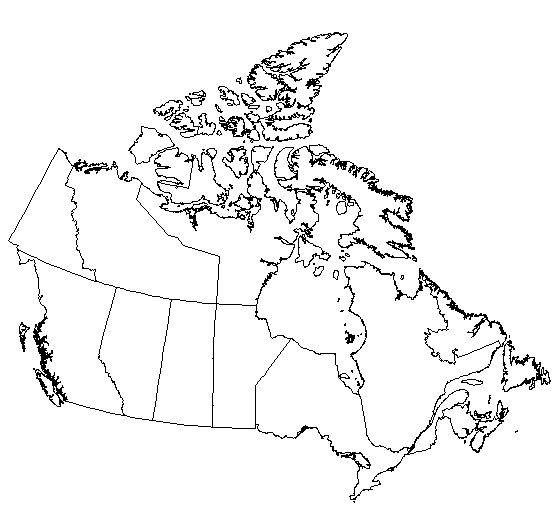 Bewitching image pertaining to printable maps of canada